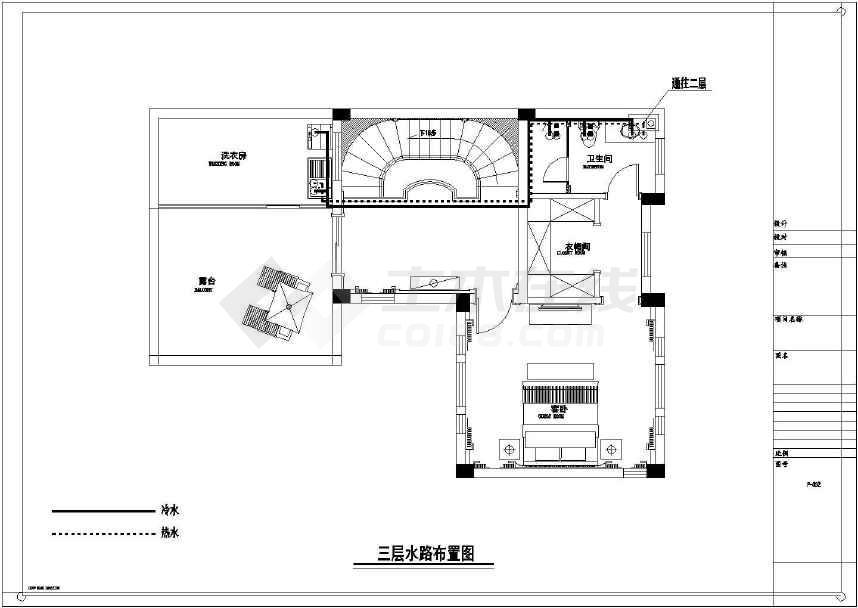 【江苏】现代奢华别墅室内装修施工图(含效果窗帘简欧别墅图片