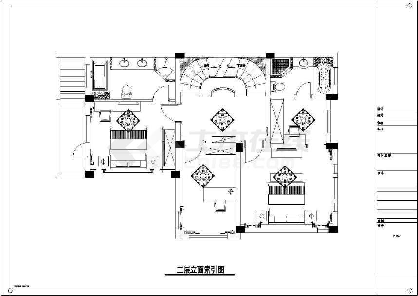 【黄岛】现代奢华别墅室内装修施工图(含梧桐效果园别墅江苏图片