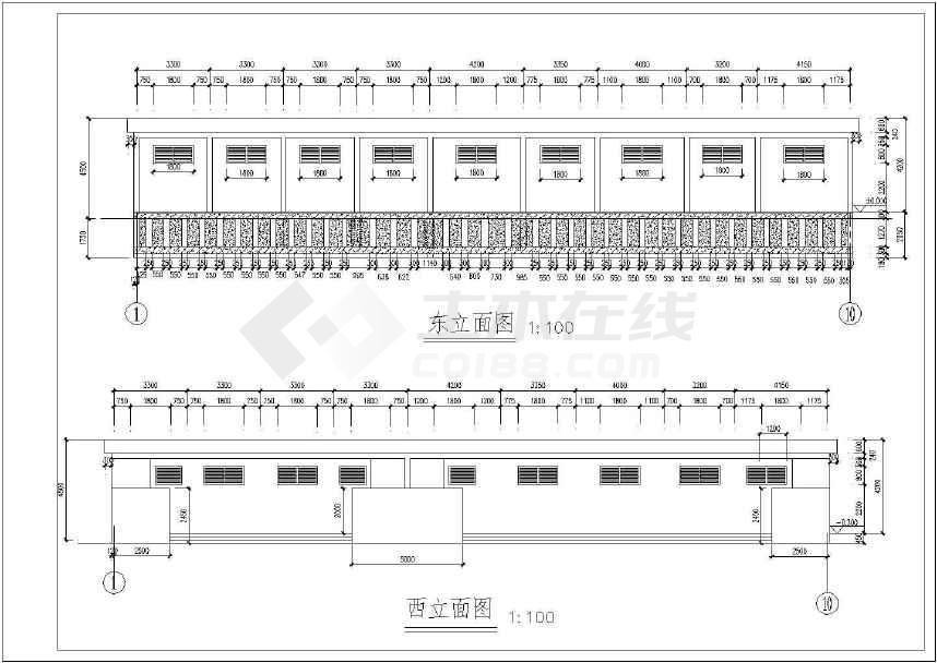 砖混结构农村小学厕所结构设计施工图