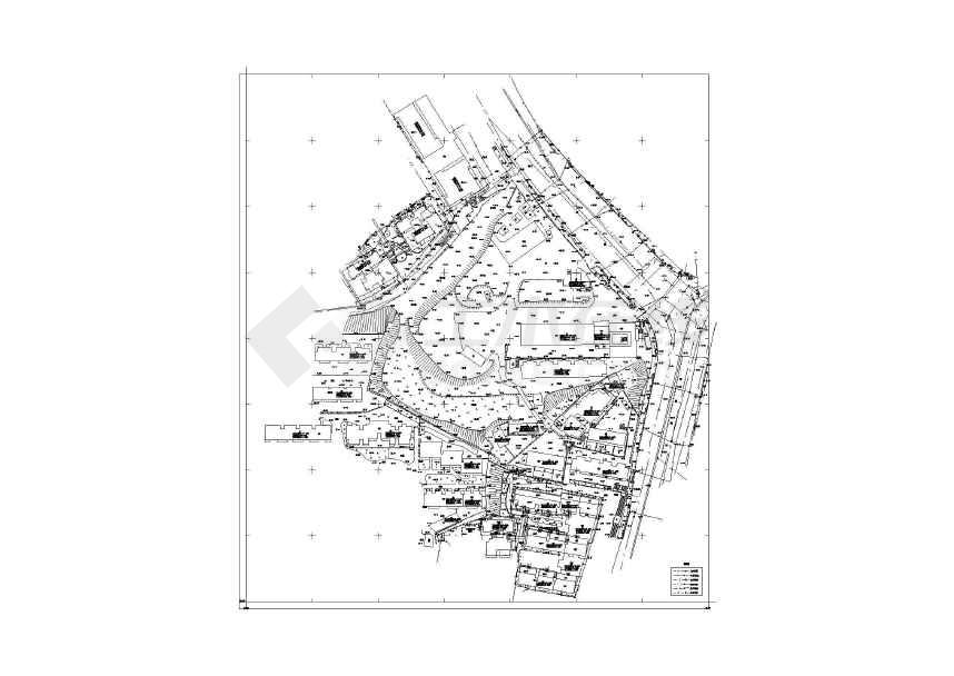 南湖图纸定向安置房工程农村v图纸图纸cad片区地形图片