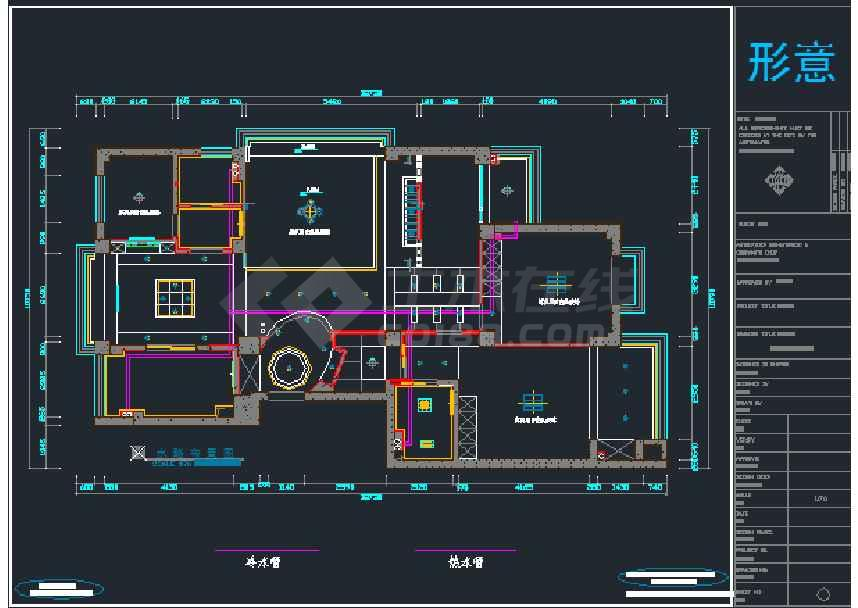 江苏望江苑标准房家装设计施工图纸下载 土木在线