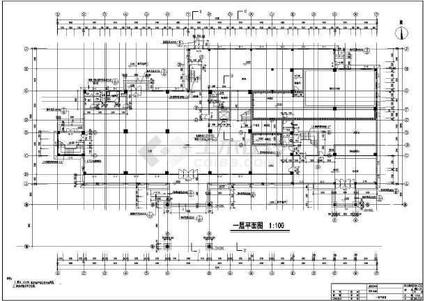 【溧阳】六层框架结构酒店建筑设计施工图