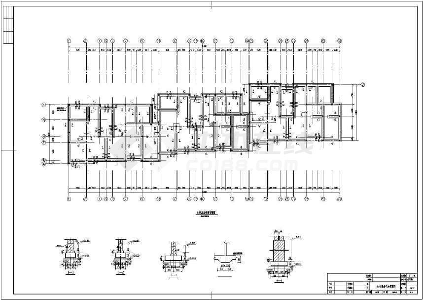 四层砌体结构住宅结构施工图(条形基础 )