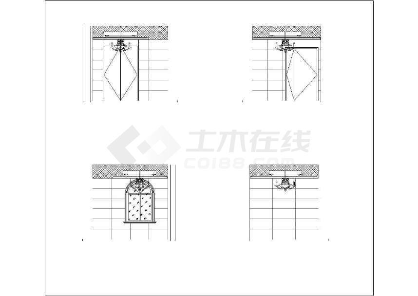【北京】欧式风格三层别墅室内精装修施工图(附方案和