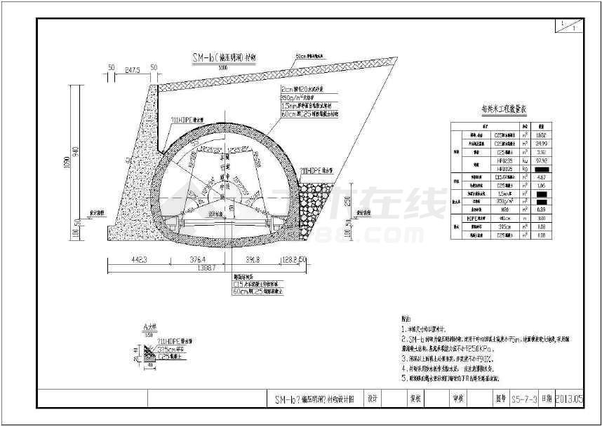 【浙江】图纸单洞偏压双向隧道v图纸公路61张说明列电图纸图弱图片