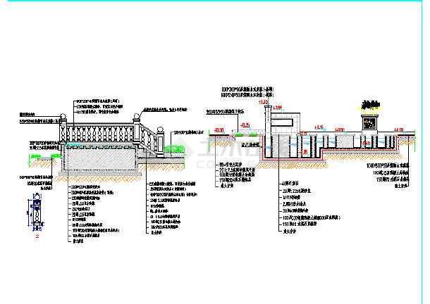 施工图设计 某园建节点详图大全(包括花架,花池,水池,护栏,台阶,木桥)