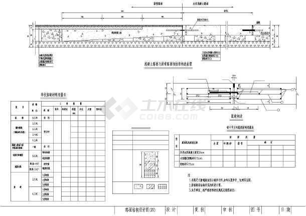 高速公路路面收费站平面及入口结构施工图_ccad填充导入ai图片
