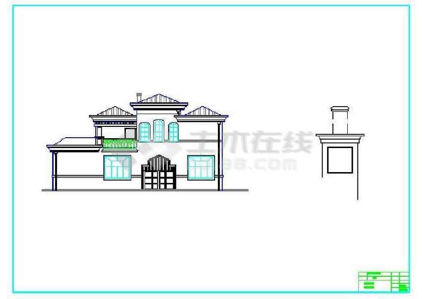 某欧式双联排别墅建筑结构设计图(共39张)