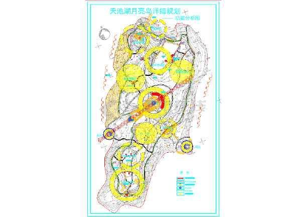 天池湖月亮岛公园景观规划设计方案图