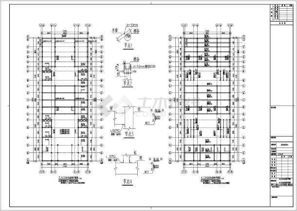 砖木混合结构仿古祠堂结构设计施工图(含建筑图)
