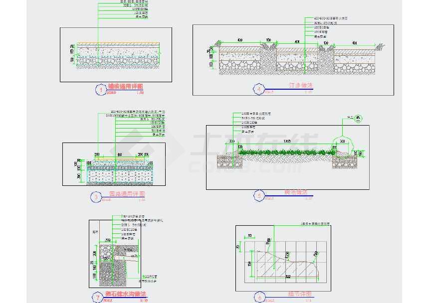 [浙江]宁静安置小区景观设计施工图 目录:第一部分 总图部分(施工总