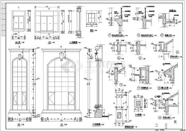 碧水天源3层独栋b型别墅建筑施工图(有效果图)
