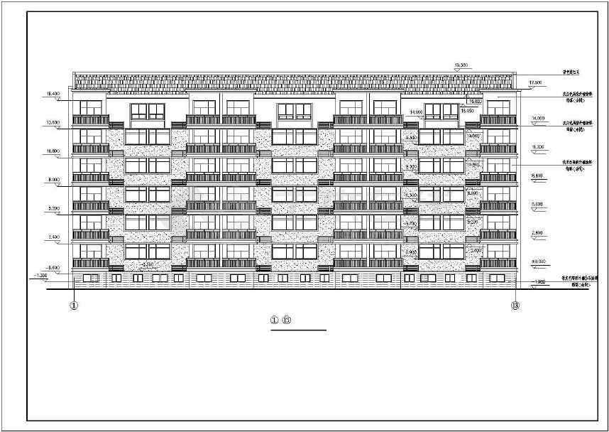 某住宅小区7号住宅楼建筑设计施工字体焦点图纸v字体图片