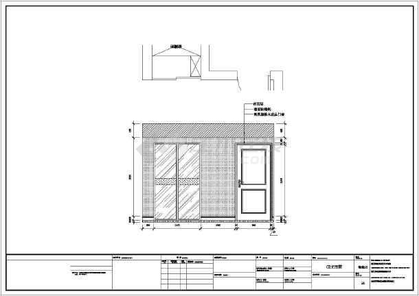 【上海】豪华欧式风格两层别墅施工图(附客厅效果图)