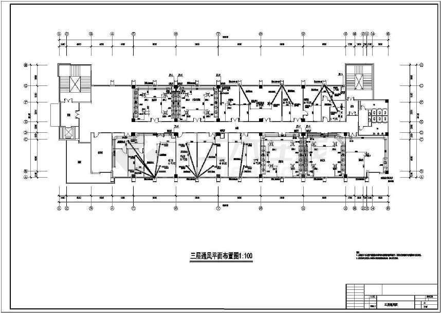 某检测所检测楼通风系统设计施工图纸
