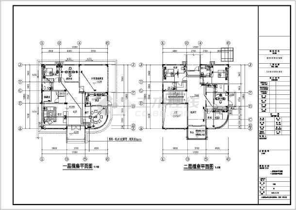 某三层独栋别墅建筑+结构+水电设计图