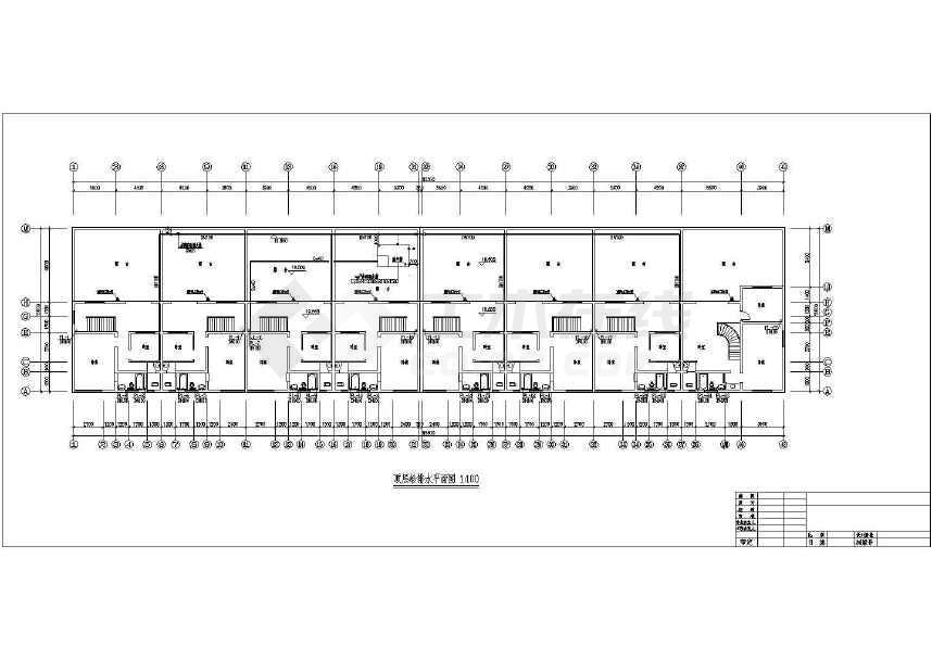 某六层住宅楼给排水设计cad施工图下载 土木在线