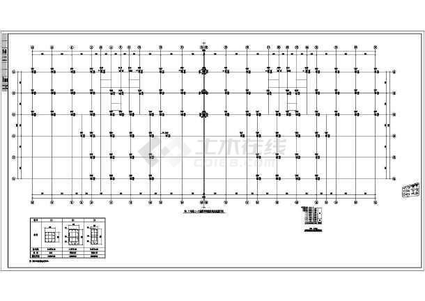 图纸厂房混凝土框架结构设计施工图下载结构上面电气pt图片