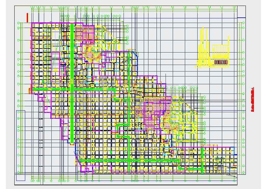 某框架结构超高层地下室结构设计施工图纸