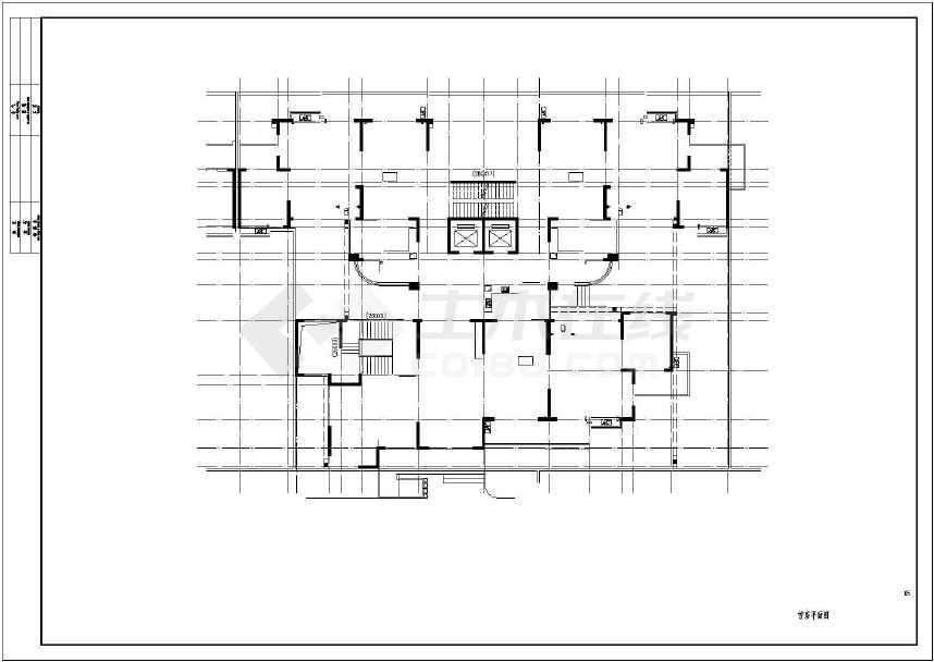 单幢房屋平面矢量图