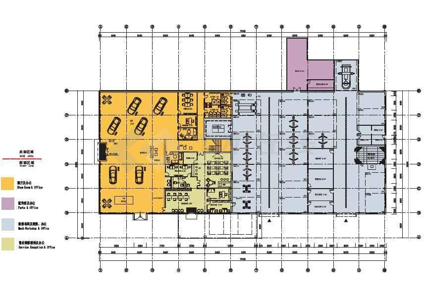 汽车潍坊金世都4S店室内设计方案PDF高清图片