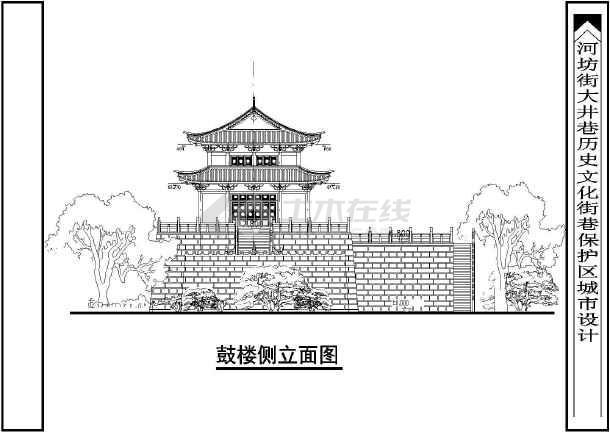 中国古代的黄金建筑鼓楼的设计方案