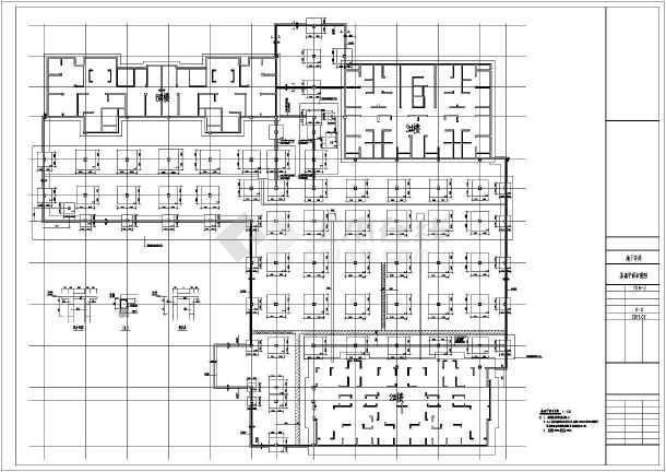 3300平米地下一层全埋式车库结构施工图(含建筑图)