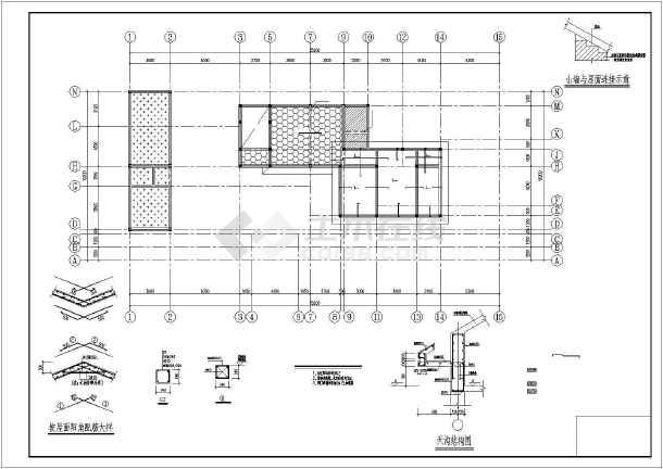 某3层农村别墅建筑,结构设计施工图(含效果图)