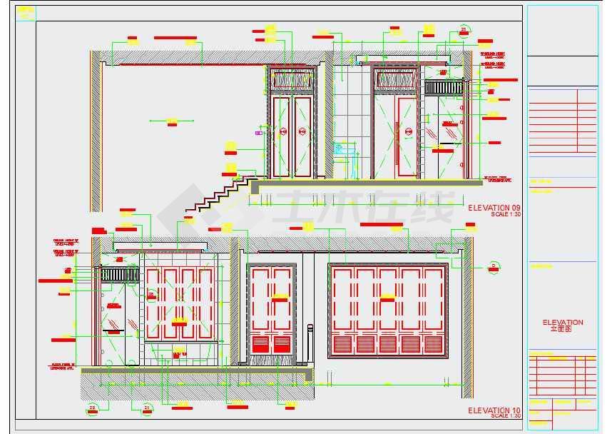 【海南】生态休闲度假酒店别墅室内设计装修cad施工图