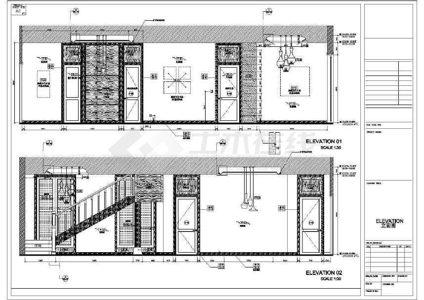【海南】生态休闲度假酒店别墅室内设计装修cad施工图图片
