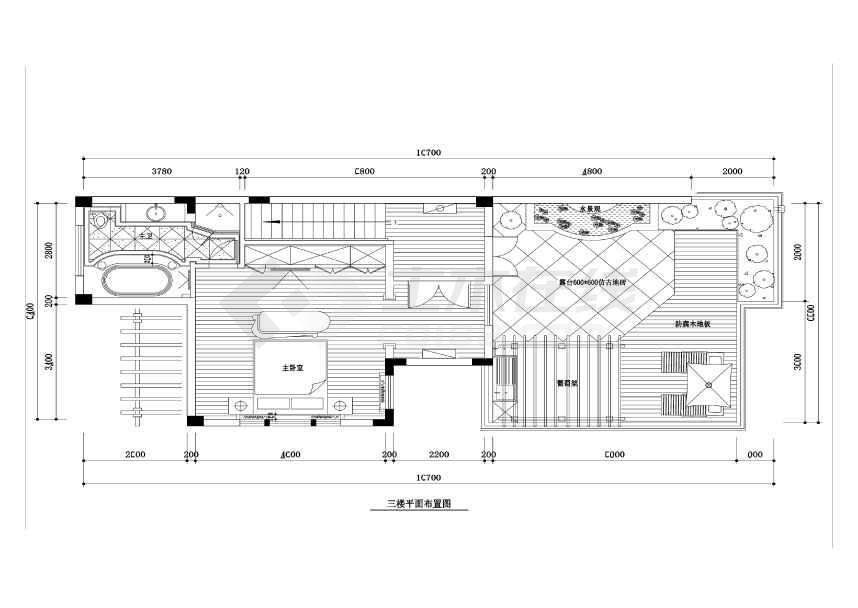 【常熟】虞景山庄古典欧式风格联排别墅装修施工图(附