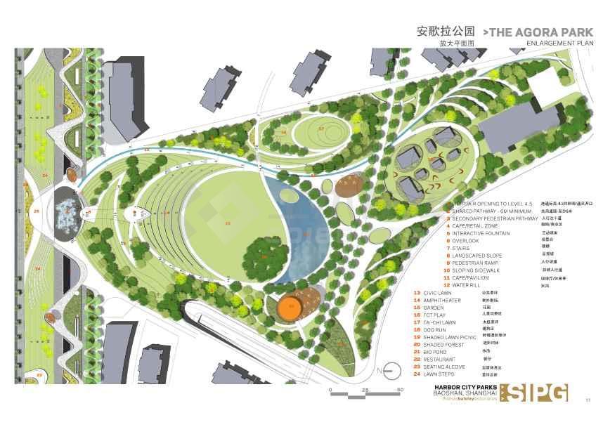 【上海】优美线型滨江弧形公园景观设计方案文本jpg