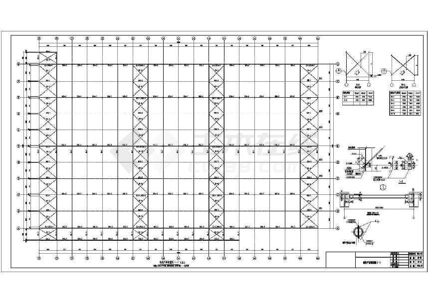单层轻型钢框架结构厂房结构施工图