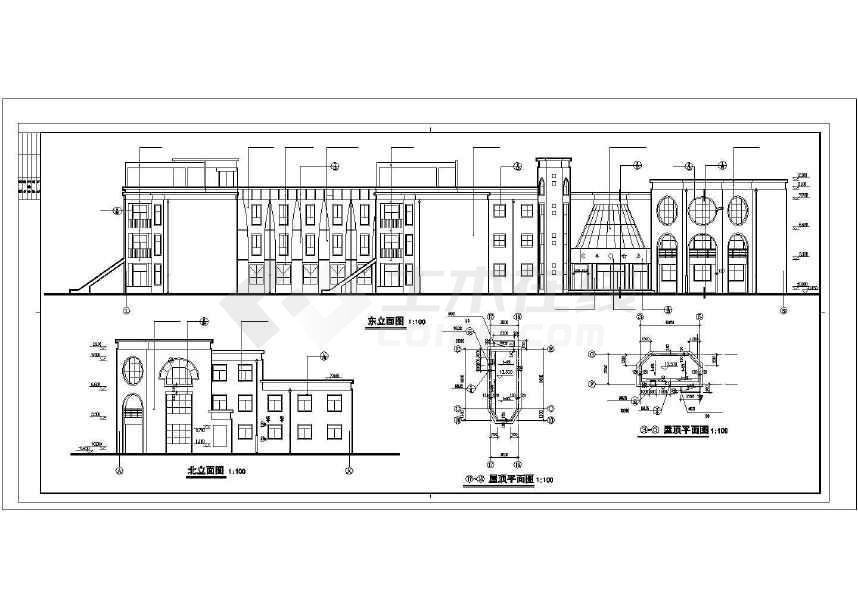 【南京】三层现代风格市级幼儿园教学楼设计施工图