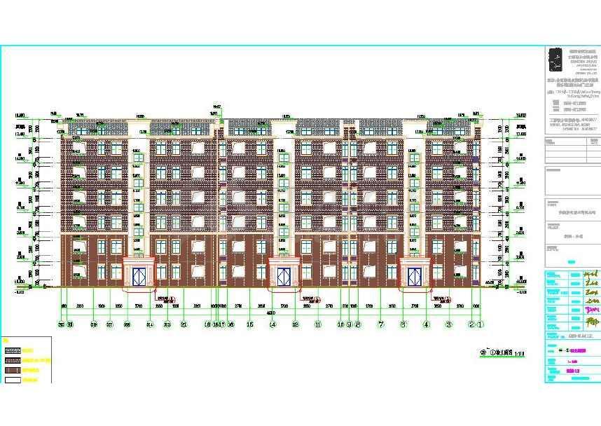 高层剪力墙一梯两户塔式住宅楼建筑施工图下载 土木在线