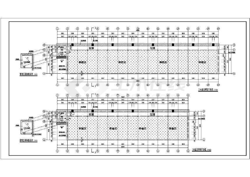 某地区蔬菜大棚温室建筑设计施工图_cad图纸下载_土木