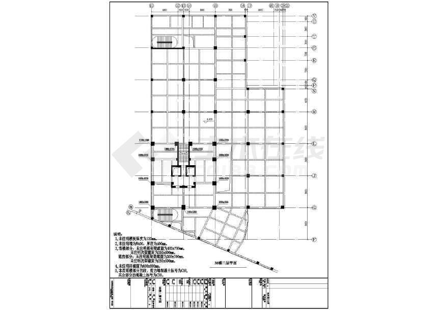 本资料为三栋28层的框剪结构住宅,分为塔楼部分与裙房部分,塔楼