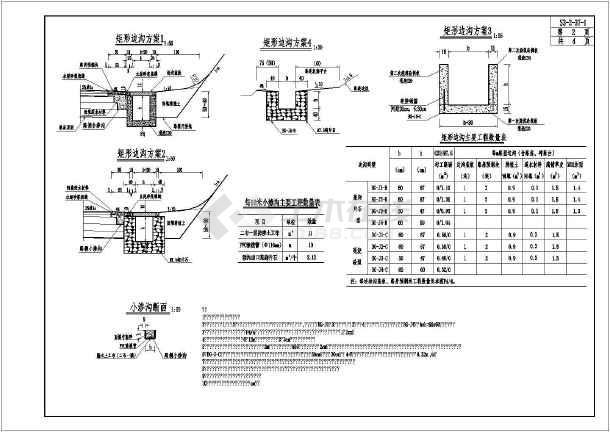【湖南】市政道路路基路面排水设计图纸