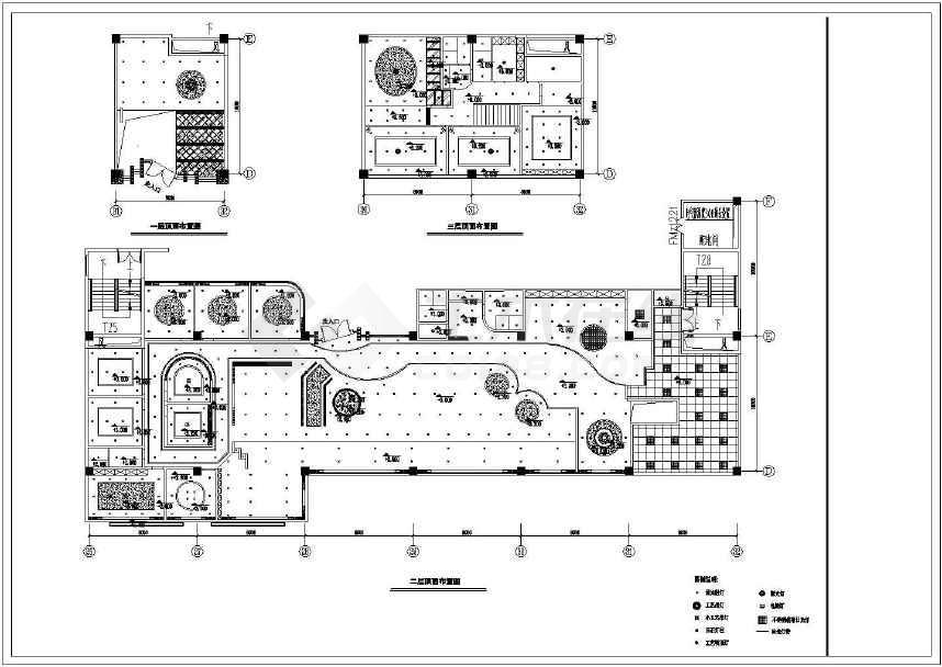 某地图纸咖啡厅内部装修CAD两岸方案中望2008cad免费下载图片
