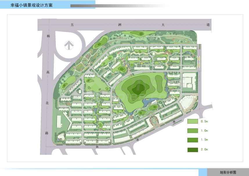 【上海】简单大方住宅区景观设计方案(jpg格式)