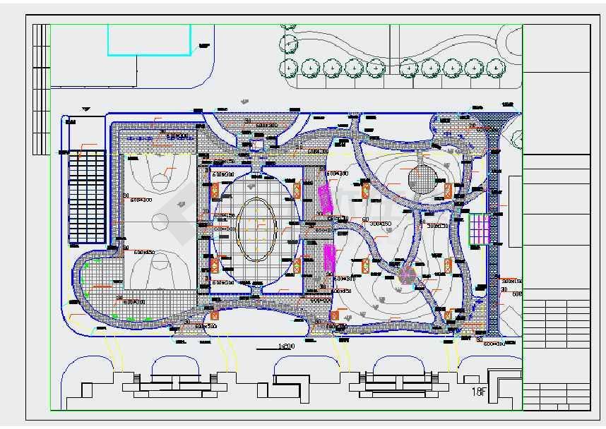 某城市新型生态广场景观设计施工图图片