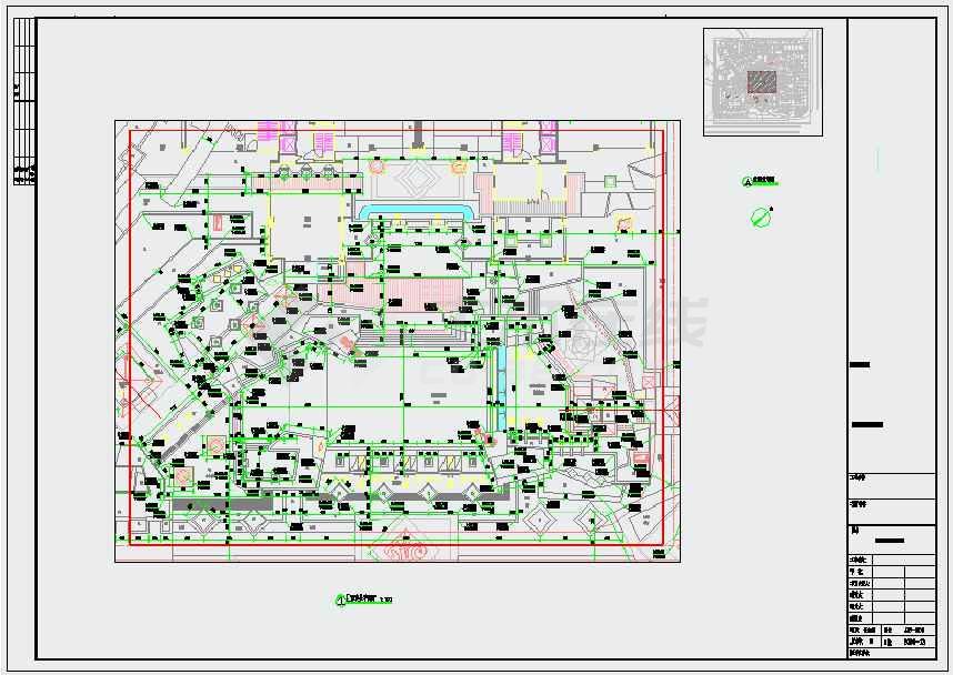 图纸包括:图纸目录,设计说明,总平面图,给排水竖向平面图,铺装平面