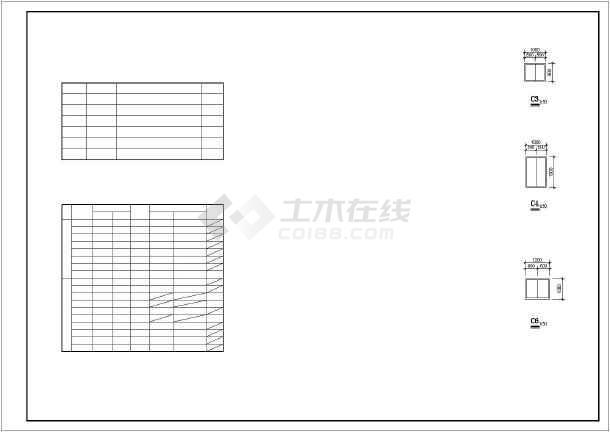 某别墅三层小村镇建筑设计施工图纸下载-光缆土木v别墅图纸放线图片