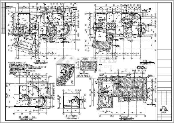 二层现代风格K型图纸建筑设计施工图表示是什么h的意思下载啊别墅里面的图片