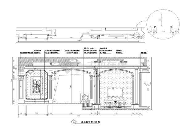 【常熟】润欣花园300平欧式二层独栋别墅装修施工图(附效果图)