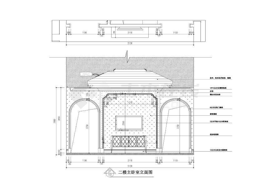 【常熟】润欣物业300平欧式要不独栋别墅装修施工图(附效果图)别墅想花园二层买图片