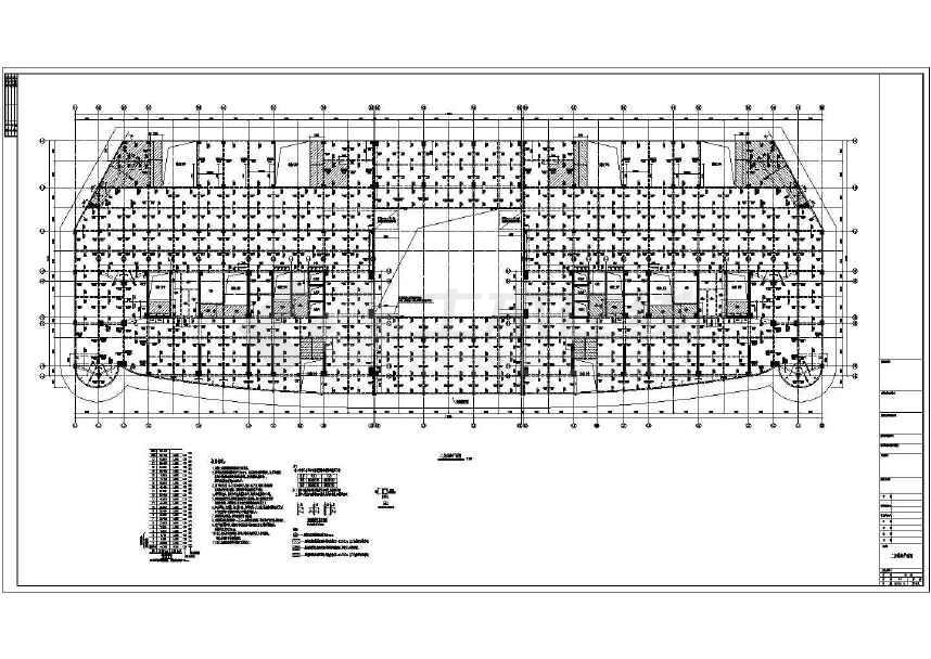 22层框剪结构商住楼结构设计施工图