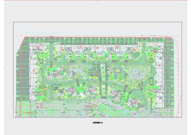 居住区园林植物配置手绘平面图