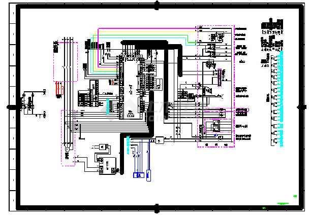 某地柴油机发电机二次线设计施工图图片