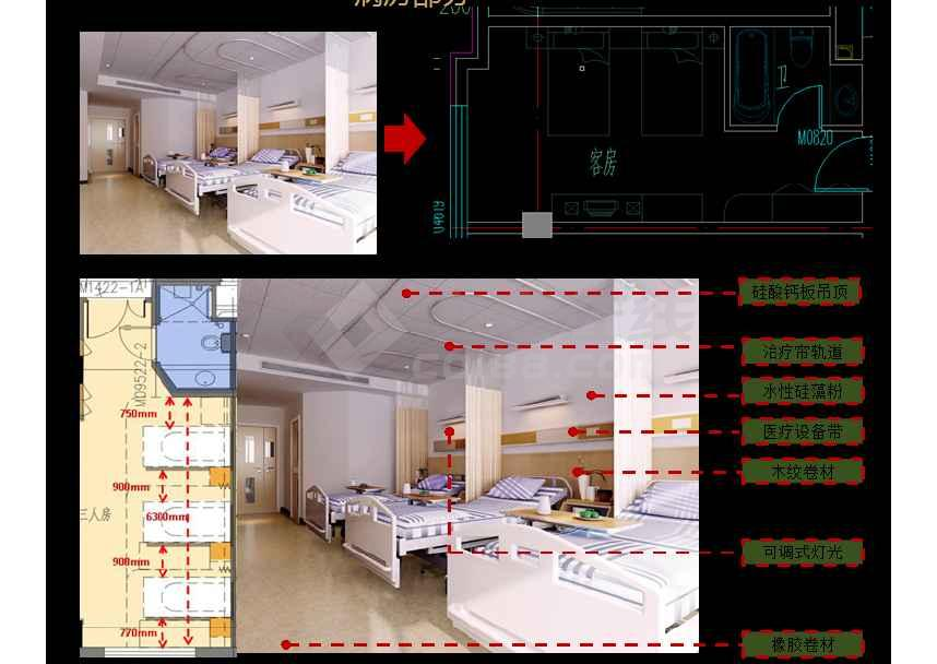 某地综合医院室内设计方案讲解ppt
